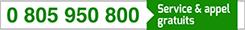 numero vert : 0805 950 800 (service et appel gratuits)