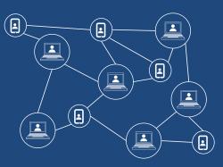 Illustration en lien avec le blockchain
