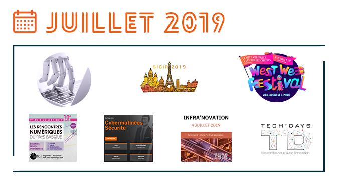 Les événements IT de juillet 2019