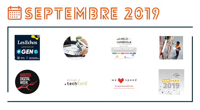 Les événements IT de septembre 2019