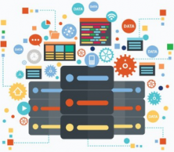 image illustrant la formation big data en flat design