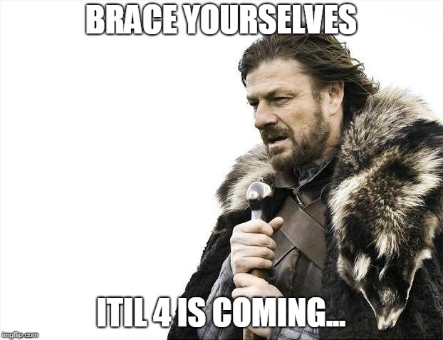meme game of thrones pour la nouvelle version d'ITIL