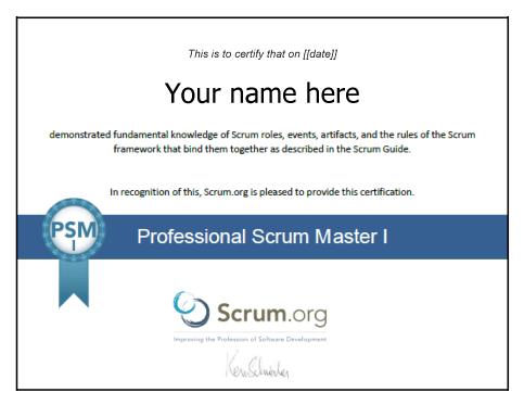 format type du titre de certification psm