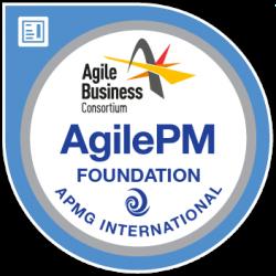 logo représentant le badge obtenu avec la certification AgilePM Foundation