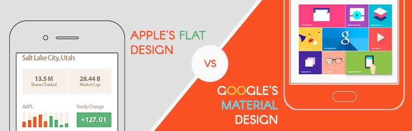 comparaison design android ios