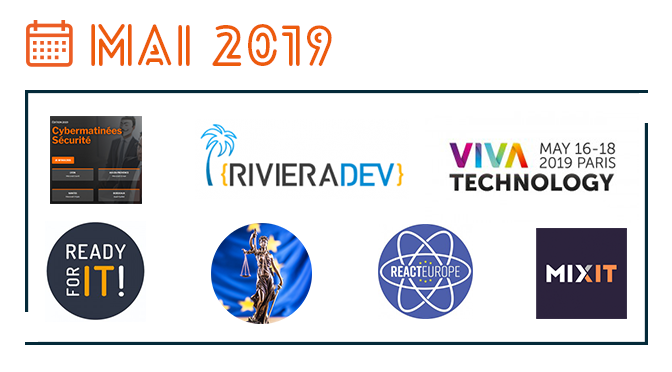 Les événements IT de mai 2019