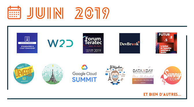 Les événements IT de juin 2019