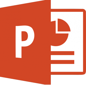 logo du logiciel de présentation microsoft powerpoint