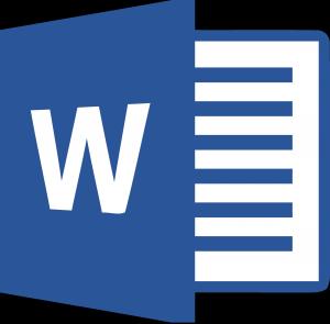 icône du logiciel de traitement de texte Microsoft Word