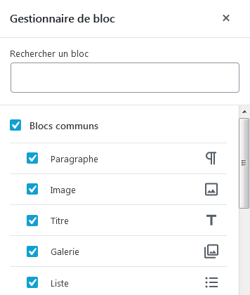 WordPress 5.2 : Gestionnaire de blocs
