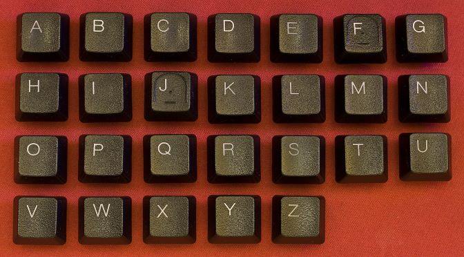 lettres d'un clavier d'ordinateur