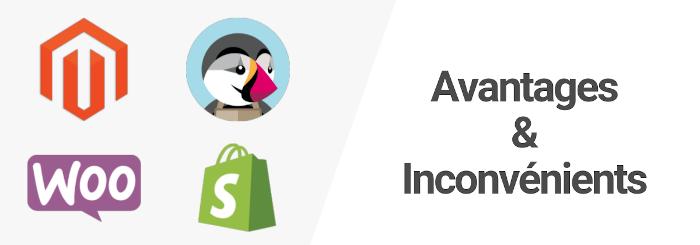 Magento, Prestashop, WooCommerce, Shopify : Avantages et inconvénients