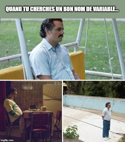 meme escobar nommage variables et fonctions