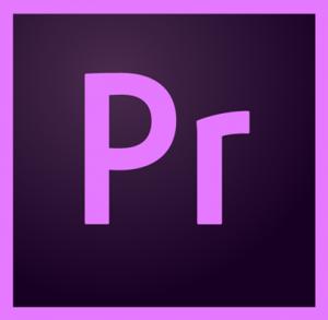 logo du logiciel de montage video adobe premiere