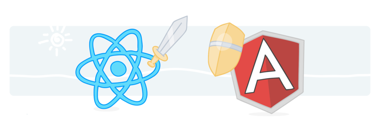 les frameworks front-end react et angular