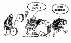 dessin humoristique réinventer la roue