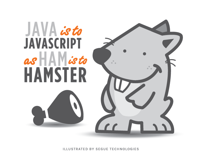 Java is to Javascript as ham is to hamster