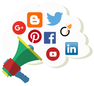 social media marketing formation logo