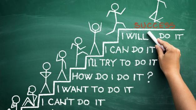 dessin représentant les étapes du succès