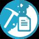 icone représentant le minage de données