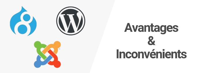 WordPress, Drupal, Joomla : Avantages et inconvénients